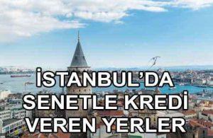 Ön Ödemesiz İstanbul İçinde Senetle Kredi