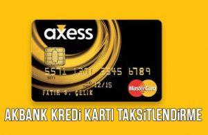 9 Ay Akbank Kredi Kartı Yapılandırma (Faiz Oranları)