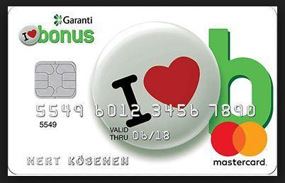 İkinci Olarak En Çok Hediye Para Kazandıran Kredi Kartı Garanti Bonus