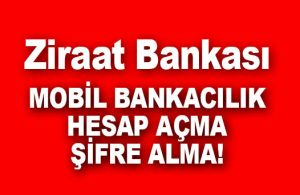 Ziraat Bankası Mobil İnternet Bankacılığı Açma (5 Dakika YETERLİ)